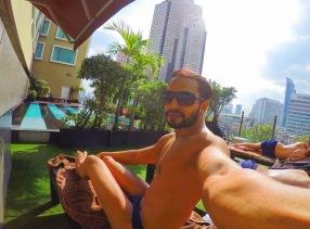 Pool time Selfie